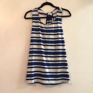 NWT Blue and White striped Tank
